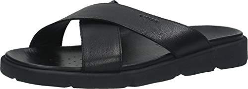 Geox U XAND 2S C, Sandalias deslizantes. Hombre, Negro, 40 EU