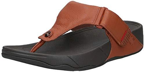 FitFlop Men's Trakk Ii Flip Flop, Dark Tan, 13 M US