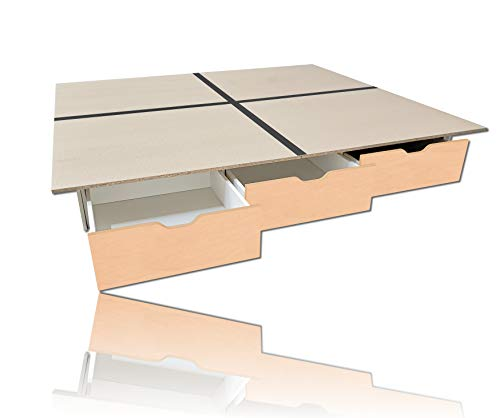 Schubladensockel AHORN inkl. Bodenplatten 180 x 220 cm