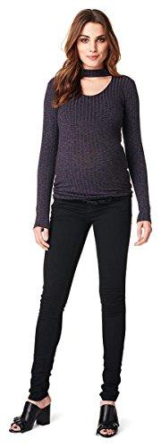 Love2Wait Superskinny Damen Schwangerschaftsjeans Umstandshose Five-Pocket-Jeans elastisch tiefer Bund schmaler Schnitt- Gr. M (Herstellergröße: 30/34), Dark Blue