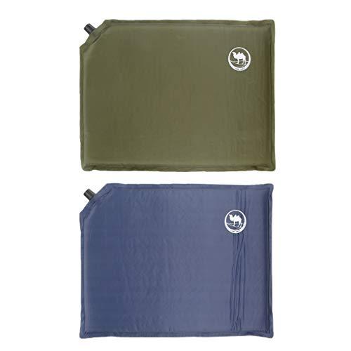 perfk 2 Stücke Ultraleicht Selbstaufblasende Sitzkissen Thermokissen mit Packtasche