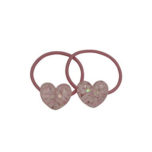 Élastique avec cœurs 2 pièces Rose clair