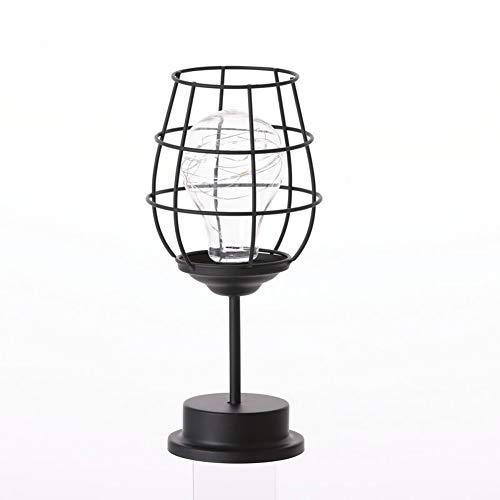 GYYlucky Nordic IJzer wijnglas fles decoratie mini koperen lichten kamer slaapkamer creatieve LED nachtlampen