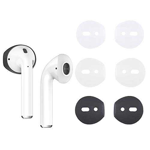 {Fit in Case}Silicone Protecitve Eartips Skins and Covers Replacement Anti Slip Soft Eartips Compatible with Apple 1 & 2 or EarPods Headphones/Earphones/Earbuds (3 Pairs Mixed)