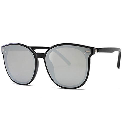 hqpaper Gafas de sol Gafas de sol de moda Gafas de sol de clavo de arroz con montura grande-Tabletas de mercurio con montura negra