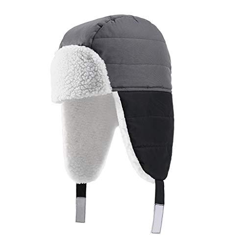 homozy Premium ushanka chapéu de inverno dos homens com abas de orelha russo trooper trapper chapéu aquecedor unisex adultos
