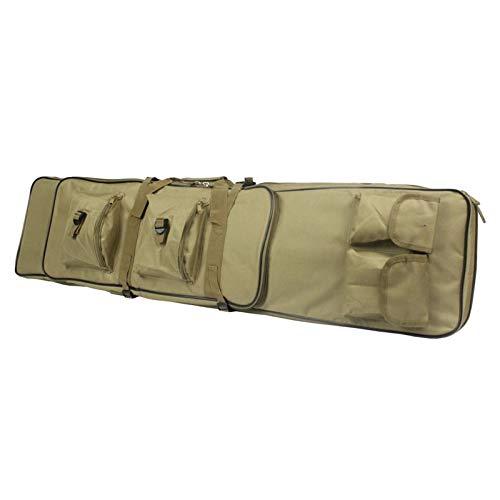 WQ-HUNT, 85/100/120 cm Funda de Rifle de Nylon Bolsa de Caza de Alta Densidad táctico carabina Militar Airsoft Funda Pistola Pistola de Rifle Accesorios (Color : 120CM Tan)