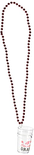 Beistle 2-1/2-Ounce Beads with Graduate Glass, 33-Inch, Red