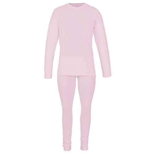 Alfani - Conjunto Termico Playera Manga Larga y Pantalon para Dama, 100% Algodon Termico Rosa Extra Grande