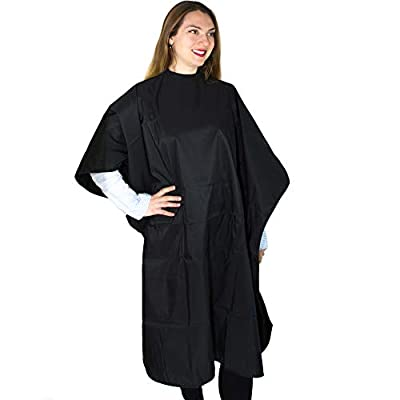 Hair Coloring Capes - Polyester with Coating Waterproof Chemical Cape for Color and Treatments - Hair Salon Cape - Snap Closure Hair Cape - Hairdresser Cape