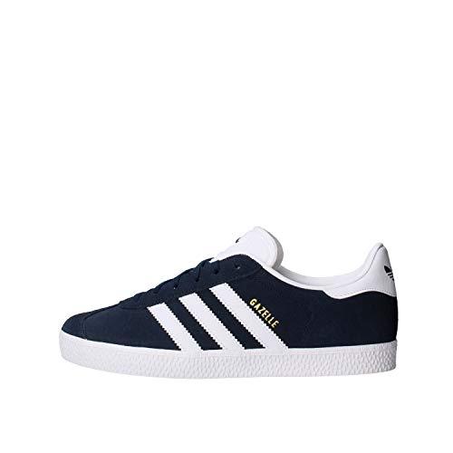 adidas Gazelle J, Baskets Basses Mixte, Collegiate Navy/Footwear White/Footwear White, 37 1/3 EU