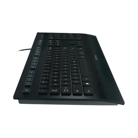 Logitech K280e Pro Teclado con Cable para Windows, Linux, Chrome, Disposición QWERTY Pan Nordic, Negro