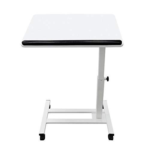 QYT-Escritorio móvil portátil del Ordenador portátil Altura Ajustable del Ordenador portátil del Ordenador de Mesa de Ordenador extraíble para el Estudio/redacción/Escritorio Artesanal,Blanco