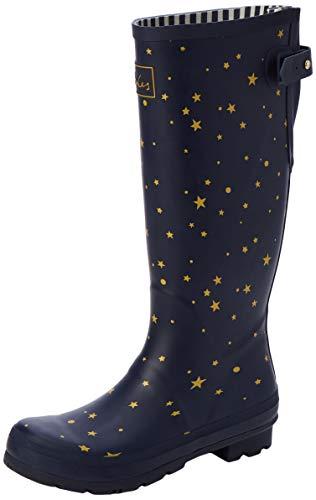 Joules Welly Print, Botas de Agua Mujer, Azul (Star Gazing Stargaze), 36 EU