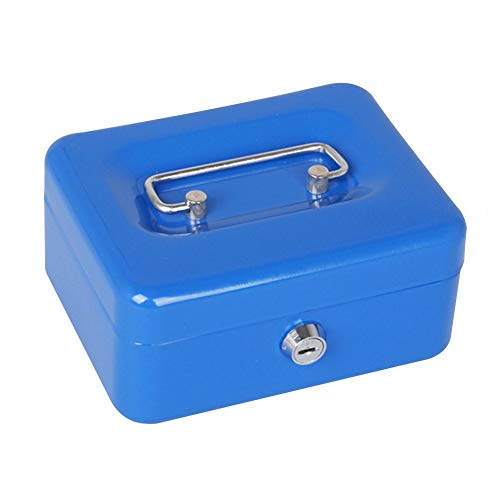 8 Inches The Ultimate Orange Cash Box with 2 Keys for Security Cash Box Secure Lock and Cash Tray for Petty Cash Money Box with Double Layer Keeping Your Money Safe