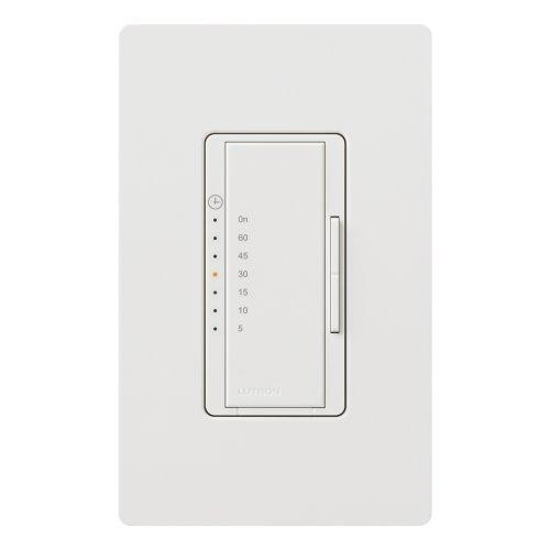 Lutron MA-T51HW-WH Maestro 3-Amp/600-watt Single Pole Countdown Timer Control Switch, White