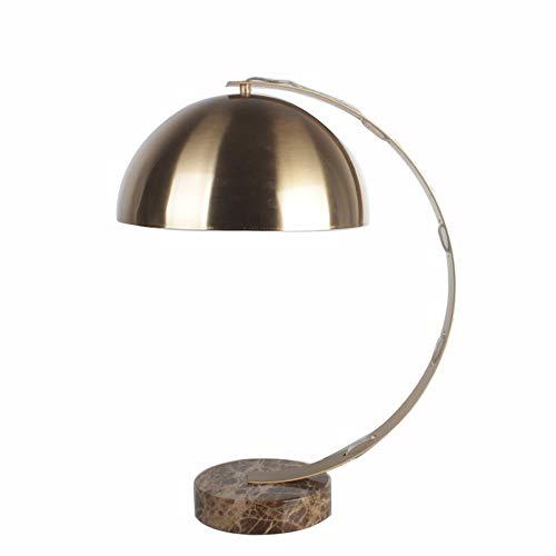 WHSS Lámpara de mesa de oro lámpara de mesa, elegante lámpara de mesa de mármol creativo, lámpara de mesa de noche en dormitorio de sala de estar, lámpara de mesa grande (E27 tornillo puerto)
