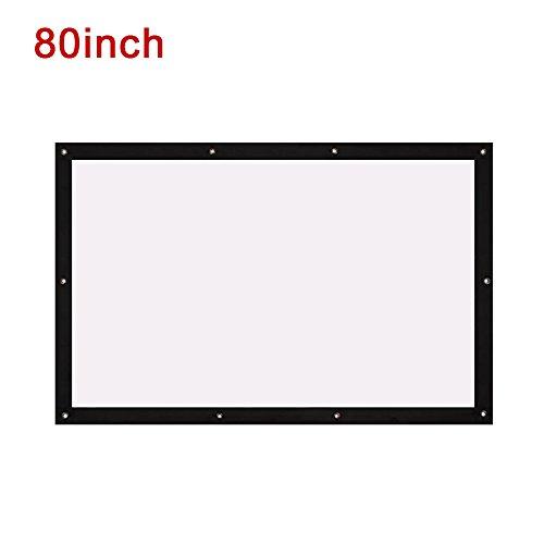 Gefaltete Projektionstuch Projektor Tuch Bildschirm Durable 4: 3 mit Hängende Loch Schule Gaming_80 Zoll