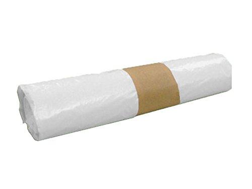 PLASBEL Rollo Bolsa Basura Blanca 25 Lt - 54 x 60 cm. Resistente y antigoteo. Baja Densidad y Alta presión. 20 ud
