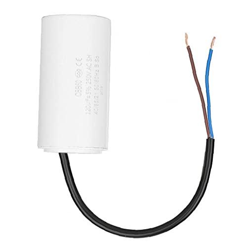 MaylFre CBB60 Capacitor Run Cable Conductor 250V 120uf Los Motores de Condensador para acondicionadores de Aire del compresor Blanca Duradera Herramientas industriales y domésticos