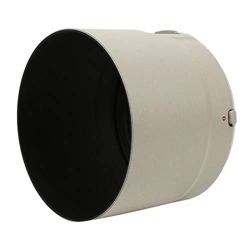 Entatial Parasol para cámara ET-83D Parasol para Objetivo de plástico Blanco para para Canon EF 100-400 mm f/4.5-5.6L IS II USM Evite la neblina Durante el Flash de contraluz o la fotografía Nocturna