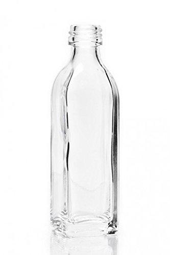 Vierkante fles miniatuur minifles sterke drank/monster met schroefdop miniatuurfles sterke drank 0,04 l
