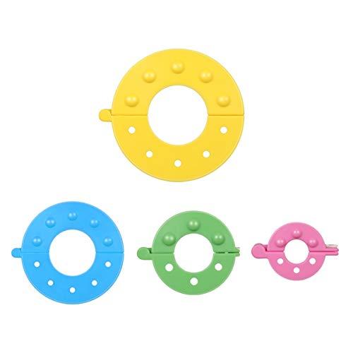 MILISTEN 8 Piezas Fabricantes de Pompones Útiles Funcionales 4 Diferentes Tamaños Fabricantes de Bolas de Pelusa Tejedores de Bolas para Tejer DIY