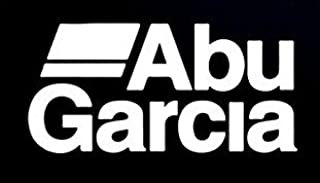 CCI Abu Garcia Fishing Reel Logo Decal Vinyl Sticker|Cars Trucks Vans Walls Laptop| White |5.5 x 2.75 in|CCI774