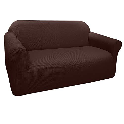 Granbest Sofabezug, dick, elastisch, 2-Sitzer-Sofabezug, rutschfest, Jacquard-Stoff, waschbar (2-Sitzer, Schokolade)