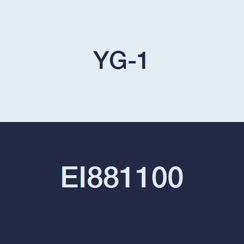 YG-1 EI881100 10.0 mm Carbide D-Power Ball Nose End Mill, 3 Flute, Short Length, 80 mm Length