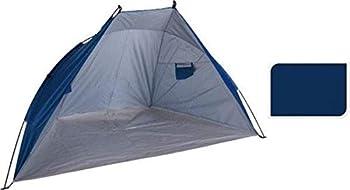 MaxxGarden Tente de plage - Tente de plage idéale - Tente de plage - Protection solaire et coupe-vent pour la plage - Protection UV - 218 x 115 x 115 cm - Bleu