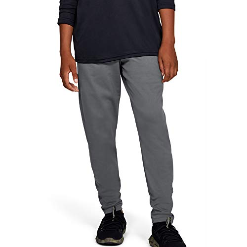 Under Armour Boys' Brawler Tapered Training Pants, Graphite (040)/Black, Youth X-Small