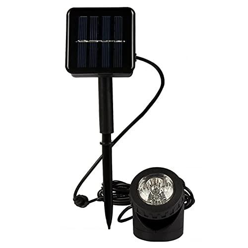 MOVKZACV LED Solar Spotlight, Solar Teichbeleuchtung Gartenleuchten Licht Unterwasserstrahler, Outdoor Solar Landschaft Spot Lampe Pool...