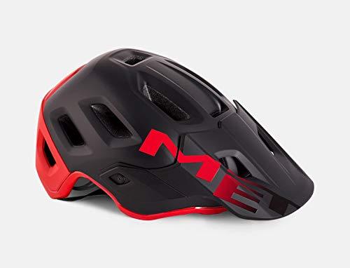 MET Fahrradhelm m3hm112m0rn1, M, schwarz–rot, Unisex