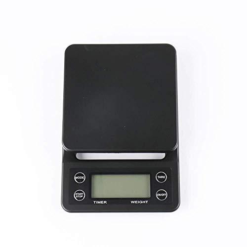 LOIHG Digitale Küchenwaage Drip Coffee Waage mit Timer 5 kg / 0,1 g Küche Foodwaage mit Tara-Funktion enthält Silikon-Pads und Batterien
