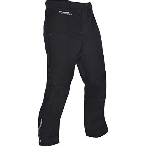 Oxford Pantalones de Tela de Metro para Hombre de Pierna Larga (Negro, Mediano/Talla 34)