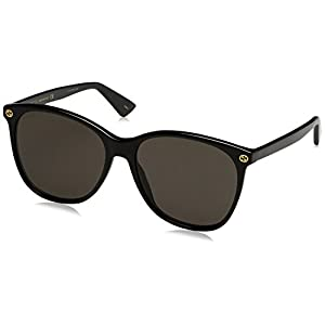 Fashion Shopping Gucci 0024S 001 Black 0024S Round Sunglasses Lens Category 3 Size 58mm