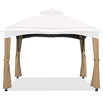 ABCCANOPY Replacement Corner Curtains for Lowe s Allen Roth 10X12 Gazebo #GF-12S004B-1  Beige