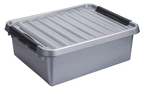 SUNWARE Q-Line Box - 25 Liter - 500 x 400 x 180mm - silber/schwarz