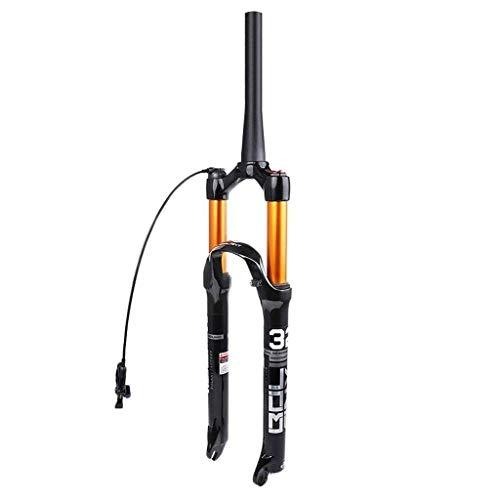 ALBN Horquilla de suspensión de aleación de magnesio para Bicicleta de montaña 26/27.5/29 Pulgadas, Horquilla Delantera de Aire para Bicicleta MTB, Recorrido de 120 mm