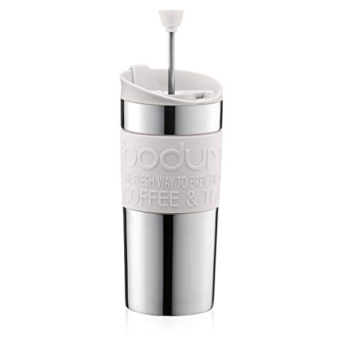 Bodum - Caffettiera a filtro Travel Press, 0,35 l, colore: Crema
