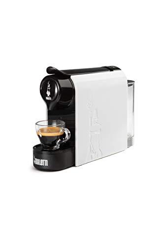 Bialetti Gioia, Macchina da Caffè Espresso per Capsule in Alluminio sistema Bialetti il Caffè d'Italia, Supercompatta, Bianco