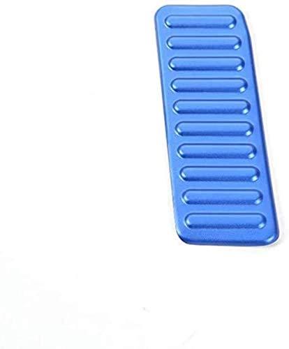 JZAMQ 1 Pieza Antideslizante de aleación de Aluminio, Rendimiento y práctica, Almohadilla para Pedal de Coche, Exclusiva Pegatina para Marco de decoración del Pedal del reposapiés Izquierdo para F