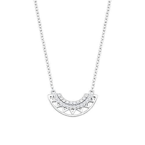s.Oliver so Pure Damen-Halskette aus glänzendem 925er Sterling-Silber mit funkelnden Zirkonia