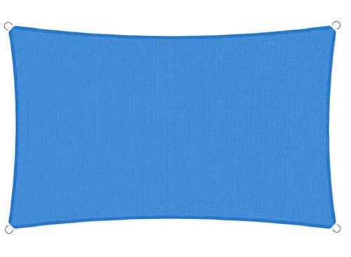 TANG Sunshades Depot 8' x 3' Sun Shade Sail Square 180 GSM HDPE Permeable Curved Edge Canopy Blue Custom Commercial Grade Standard