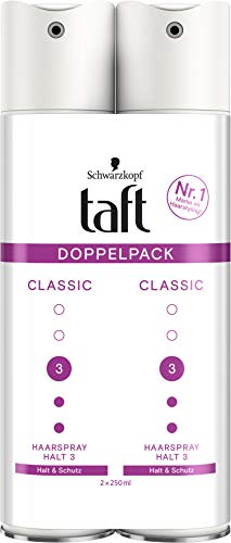Taft Haarspray Classic Halt & Schutz Halt 3, 2er Pack, 500 ml