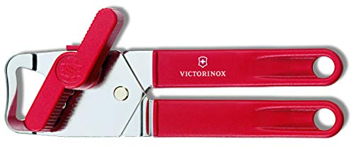 Victorinox Dosenöffner rot Universal Öffner, Edelstahl, Weiß, 1 x 1 x 1 cm