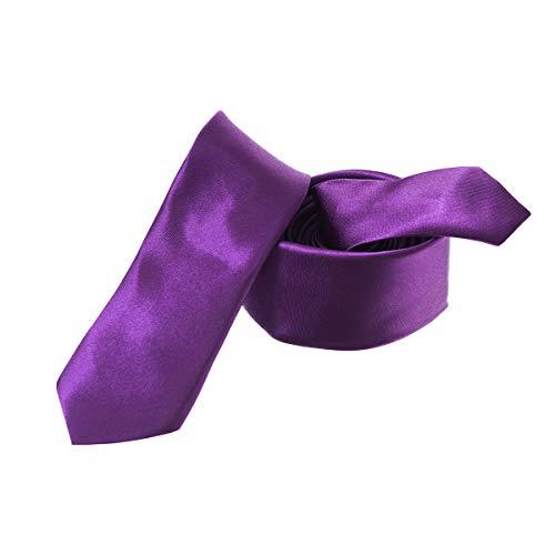 Trimming Shop Cravate Polyester Souple pour Tenue Habillée, Mariages, Bal, Célébration, Fêtes, Unisexe Design Classique - Pourpre, Largeur 5cm