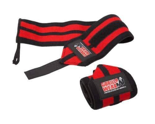 GORILLA WEAR Wrist Wraps Pro - schwarz/rot - Bodybuilding und Fitness Accessoire