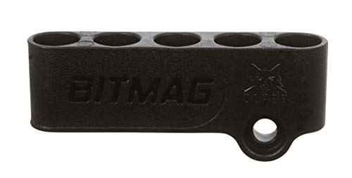 BitMag - Magnetic Bit Holder - for Drills and Drivers - Store Your bits on Your Power Tool, Always to Hand for Fast swapping - Holds 1/4 hex bits - Plastic Composite Body